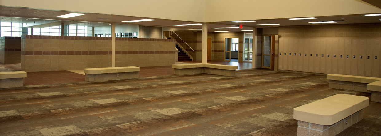 Harrisburg High School Hallway
